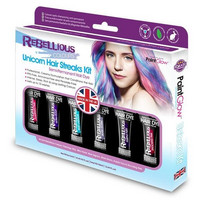 PAINTGLOW Unicorn Hair Streaks Kit Raidotusväripaketti 78ml