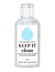 KEEP IT Hand​ Sanitizer Fragrance Free Hajusteeton Käsidesi 50 ml