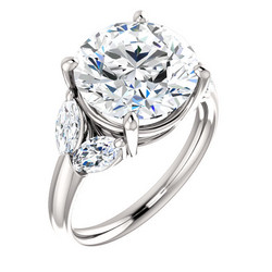 ELLEN AAVA THE QUEEN I Timanttisormus Platina 6,03ct