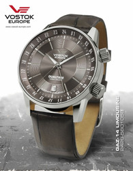 Vostok Europe GAZ 14 Automatic Dual Time Miesten Rannekello