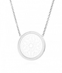 BUD TO ROSE KARMA Large Short Necklace Steel Kaulakoru 42cm