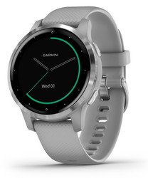 GARMIN VIVOACTIVE 4S, POWDER GRAY/STAINLESS GPS-Älykello