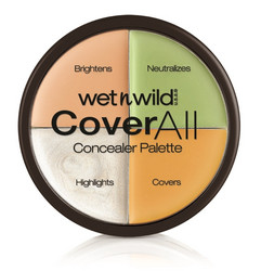 WET N WILD CoverAll Colour Correcting Concealer Palette Peiteväripaletti 6,5g
