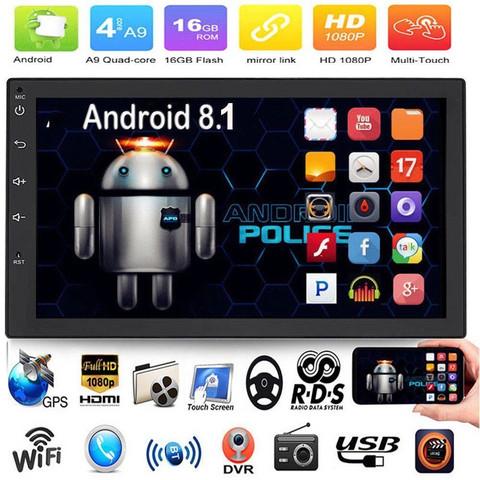 2DIN Android 8.1 käyttöjärjestelmällä oleva autosoitin. Kosketusnäyttö, Peruutuskamera, navigointi, bluetooth ym