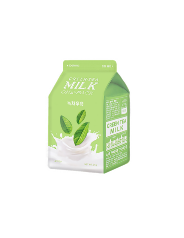 Green Tea Milk One Pack Mask A'pieu