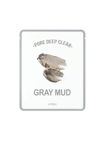 Pore Deep Clear Gray Mud A'pieu Kasvonaamio