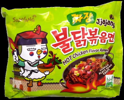Buldak Jjajang Hot Chicken Mustapapu Ramen - Tulinen