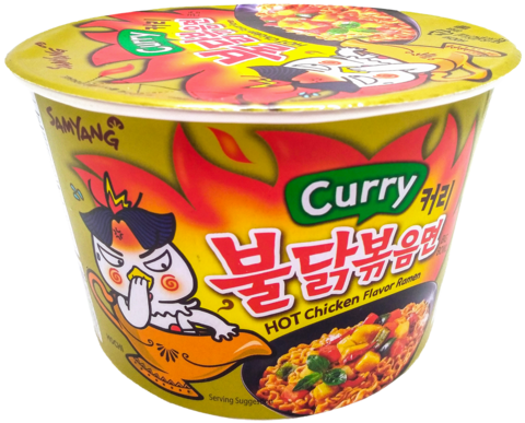 Buldak Curry Hot Chicken Big Bowl Ramen - Tulinen