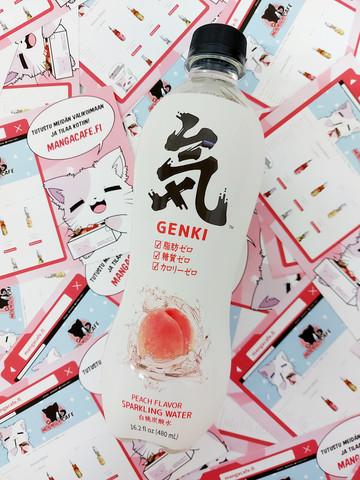 Genki Sparkling Water - Persikka
