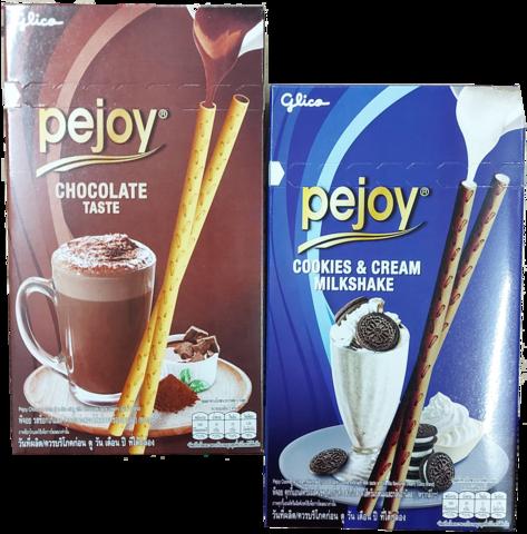 5+5 Pejoy Chocolate Taste ja Cookies & Cream Milkshake rasiaa
