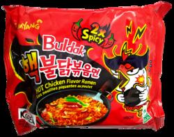 Buldak 2x Spicy Chicken Ramen - RÄJÄHTÄVÄN TULINEN
