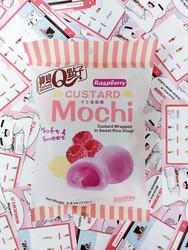 Rasberry Custard Mochi valkosuklaalla