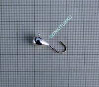 Volframi-mormuska 6mm #6 lenkki hopea