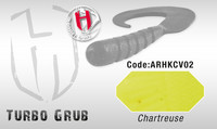 Turbo Grub 14cm Chartreuse