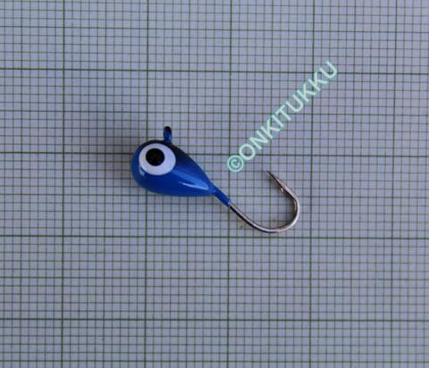 Volframi-mormuska 6mm #6 lenkki sininen