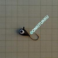 Volframi-mormuska 5mm #8 lenkki musta