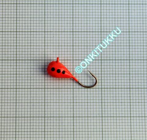 Volframi-mormuska 5mm #8 lenkki punainen