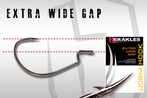 Extra Wide Gap, worm hook 2/0 8kpl