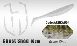 Ghost Shad 10cm 8kpl, Green Shad