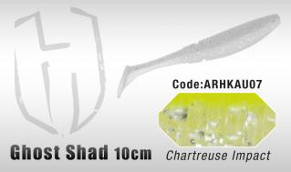Ghost Shad 10cm 8kpl,Chartreuse Impact