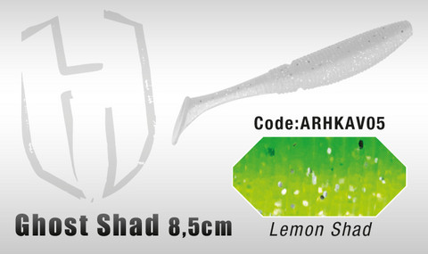 Ghost Shad 8,5cm 8kpl, Lemon Shad