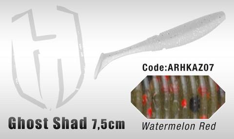 Ghost Shad 7,5cm 8kpl, Watermelon Red Fl