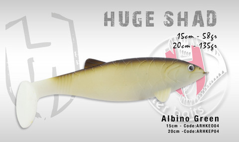 Huge Shad 20cm 135g, Albino Green
