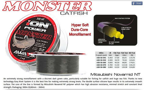 Ion Power Monster Catfish 0,50mm 300m