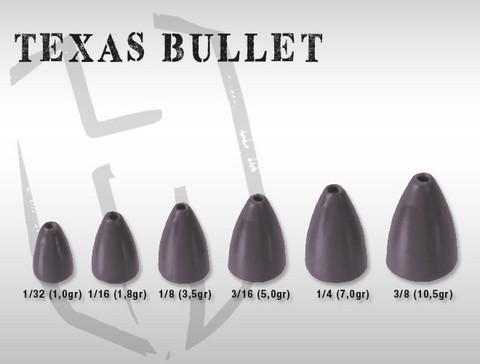 Texas Bullet rig luotipää 7,0g 6kpl