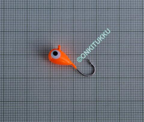 Volframi-mormuska 6mm #6 lenkki oranssi