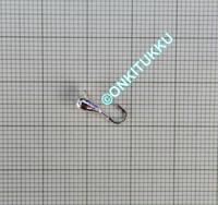 Volframi-mormuska 3mm #16 lenkki hopea