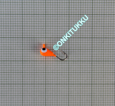 Volframi-mormuska 3mm #16 lenkki oranssi