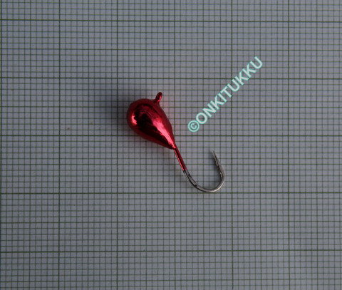 Volframi-mormuska 7mm #4 lenkki punainen kromi
