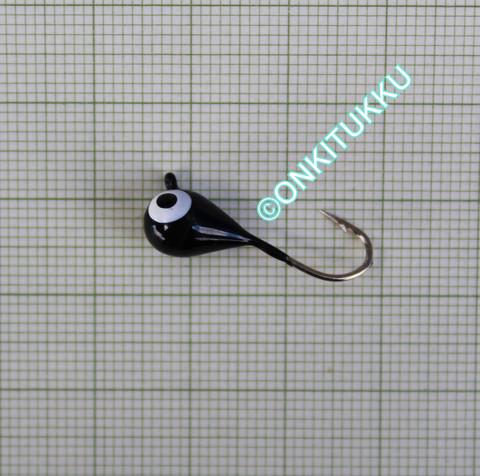 Volframi-mormuska 7mm #4 lenkki musta