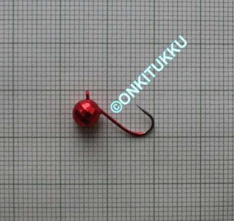 Volframi Prisma 6mm koukku #10 lenkki punainen kromi