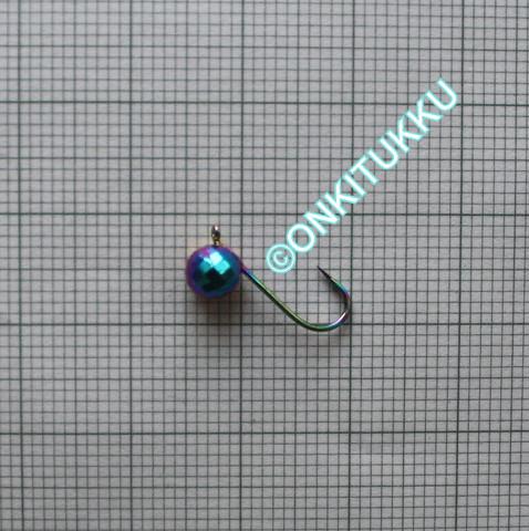 Volframi Prisma 5mm koukku #12 lenkki sateenkaari kromi