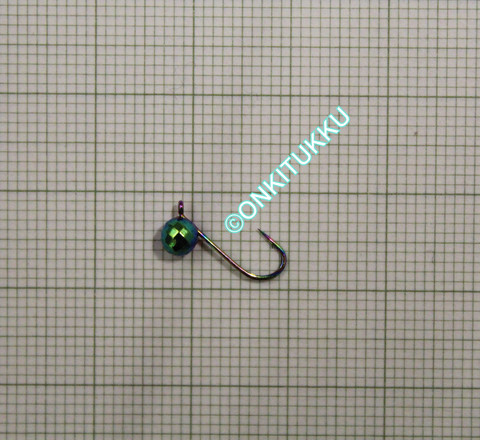 Volframi Prisma 4mm koukku #14 lenkki sateenkaari kromi