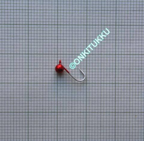Volframi Prisma 4mm koukku #14 lenkki punainen