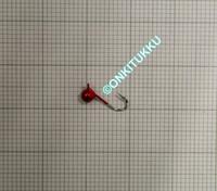 Volframi Prisma 3mm koukku #16 lenkki punainen kromi
