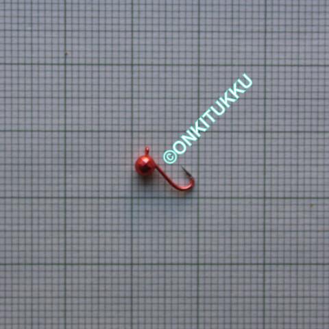 Volframi Prisma 3mm koukku #16 lenkki vaaleanpunainen kromi