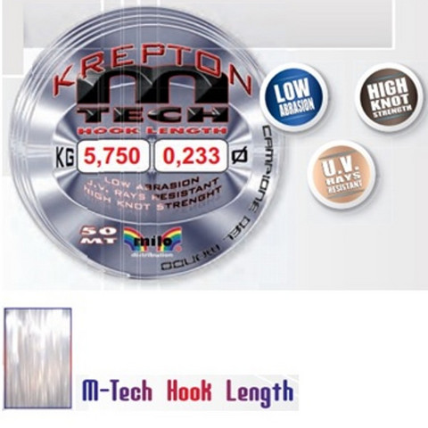 Krepton m-Tech hooklength perukesiima 50m  0,078mm