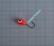 Volframi-mormuska 6mm #6 lenkki punainen