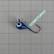 Volframi-mormuska 7mm #4 lenkki sininen