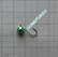 Volframi Prisma 6mm koukku #10 lenkki vihreä kromi