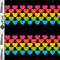 Leggingsit – RAINBOW LOVE, värikäs sydänkuvio