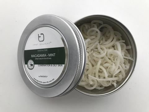 Macadamia -minttu saippua, 40g.