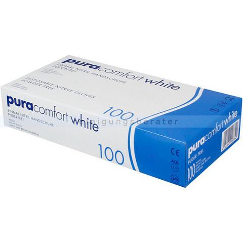 Pura comfort nitriili XS-koko, valkoinen.