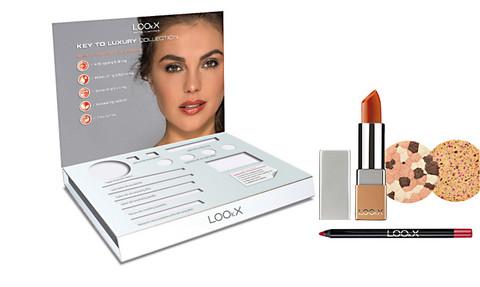 Pieni  LOOkX meikkitesteriteline pöydälle sis. testerit