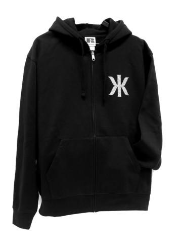 Kaija Koo bling bling logo-huppari vetoketjulla musta kahdella logolla