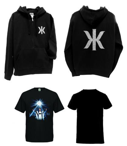 Kaija Koo Combo bling bling logo-huppari musta + t-paita Kaija kuvassa O-aukkoinen
